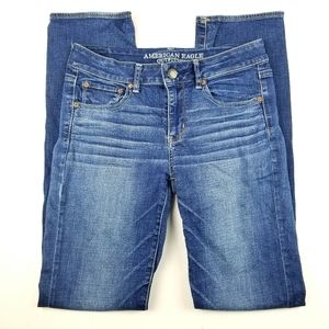 A.E.O. Straight Super Stretch Jeans 10 extra long